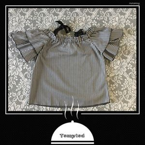 TEMPTED LOS ANGELES Black/White Gingham Top